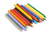 Balmumu renkli kalemler — Stok fotoğraf