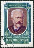 Sssr - 1958: ukazuje petr iljič čajkovskij (1840-1893), pianista a houslista — Stock fotografie