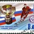 RUSSIA - 2008: shows Russia is the world champion in hockey-2008 — Stock Photo
