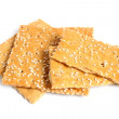 Crackers with sesame - Stock Photo