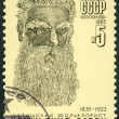 USSR - 1985: shows Krishianis Baron (1835-1923), Latvian Folklorist — Stock Photo
