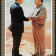 NORTH KOREA - 2000: shows Kim Jong Il and President Putin, Visit of Kim Jong Il to Russia - Stock Photo