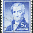 US- 1954: shows James Monroe (1758-1831), by Rembrandt Peale, fifth President of United States — Stock Photo #20424935