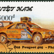 VIETNAM - 1991: shows Peugeot 405, series Rally Cars — Lizenzfreies Foto