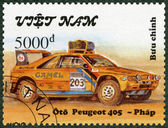 VIETNAM - 1991: shows Peugeot 405, series Rally Cars — Stock Photo