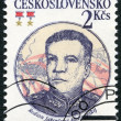 CZECHOSLOVAKIA - 1983: shows portrait of the Soviet Marshal Rodion J. Malinovsky (1898-1967), 30th anniversary of Czechoslovak-Soviet defense treaty — Stock Photo