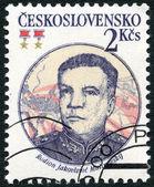 CZECHOSLOVAKIA - 1983: shows portrait of the Soviet Marshal Rodion J. Malinovsky (1898-1967), 30th anniversary of Czechoslovak-Soviet defense treaty — Stock Photo