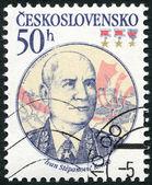 CZECHOSLOVAKIA - 1983: shows portrait of the Soviet Marshal Ivan S. Konev (1897-1973), 30th anniversary of Czechoslovak-Soviet defense treaty — Stock Photo