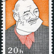 CZECHOSLOVAKIA - 1968: shows portrait of Ernest Hemingway (1899-1961), series Cultural personalities of the 20th centenary and UNESCO — Zdjęcie stockowe