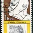 CZECHOSLOVAKIA - 1968: shows portrait of Pablo Picasso (1881-1973), series Cultural personalities of the 20th centenary and UNESCO — Stock Photo
