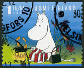 FINLAND - 2007: shows Moominmamma, Moomin characters — Foto de Stock