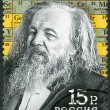 RUSSIA - 2009: shows Dmitri Mendeleev (1834-1907), celebrate the 175th anniversary of Mendeleev's birth — Stock Photo