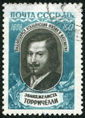 USSR - 1959: shows Evangelista Torricelli (1608-1647) — Stock Photo