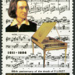 NORTH KOREA - 1987: shows Franz Liszt (1811-1886), series Famous Composers — Стоковое фото
