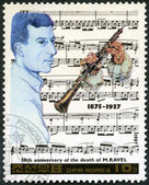 NORTH KOREA - 1987: shows Maurice Ravel (1875-1937), series Famous Composers — Stock Photo