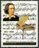NORTH KOREA - 1987: shows Franz Liszt (1811-1886), series Famous Composers — Stock Photo