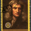 RWANDA - 2009: shows portrait of Isaac Newton (1642-1727) - Foto de Stock
