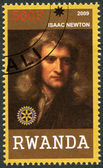 RWANDA - 2009: shows portrait of Isaac Newton (1642-1727) — Stock Photo