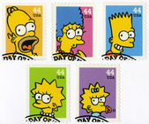 USA - 2009: shows The Simpsons — Stock Photo
