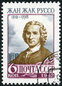 USSR - 1962: shows Jean-Jacques Rousseau (1712-1778), a Genevan philosopher, writer and composer — Stock Photo