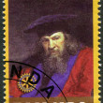 Постер, плакат: RWANDA 2009: shows portrait Dmitri Ivanovich Mendeleev 1834 1907
