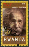 RWANDA - 2009: shows portrait Albert Einstein (1879-1955) — Foto de Stock