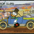 Stock Photo: ST. VINCENT GRENADINES - UNION ISLAND - 1989: shows Ludwig von Drake, 1910 Renault, series Disney characters in various French vehicles