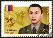RUSSIA - 2013: shows Oleg Gennadievich Ilyin (1967-2004), series Heroes of the Russian Federation — Stock Photo