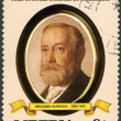 LIBERIA - 1982: shows President Benjamin Harrison (1889-1893), series the Presidents of the USA — Stock Photo