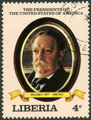 LIBERIA - 1982: shows President William H. Taft (1909-1913), series the Presidents of the USA — Stock Photo