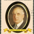 LIBERIA - 1982: shows President Warren G. Harding (1921-1923), series the Presidents of the USA — Stock Photo