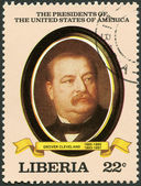 LIBERIA - 1982: shows President Grover Cleveland (1885-1889, 1893-1897), series the Presidents of the USA — Stockfoto