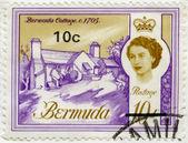 BERMUDA - 1962: shows Bermuda Cottage, 1705 — Stock Photo
