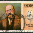 RHODESIA - 1974: shows George Pauling (1854-1919), engineer, series Famous Rhodesians - Stock Photo