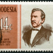RHODESIA - 1973: shows Dr. David Livingstone (1813-1873), explorer, series Famous Rhodesians - Stock Photo