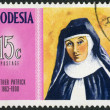 RHODESIA - 1970: shows Mother Patrick (1863-1900), Dominican nurse and teacher, series Famous Rhodesians — Stock Photo
