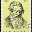 Stock Photo: SAN MARINO - 1974: shows Niccolo Tommaseo (1802-1874), Italiwriter