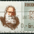Stock Photo: RHODESI- 1972: shows Dr. Robert Moffat (1795-1883), missionary, series Famous Rhodesians