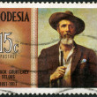 RHODESIA - 1971: shows Frederick Courteney Selous (1851-1917), explorer, big game hunter, series Famous Rhodesians - Stock Photo