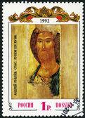 RUSSIA - 1992: shows The Saviour, by Andrei Rublev — Zdjęcie stockowe