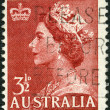 AUSTRALIA - CIRCA 1953: A stamp printed in Australia shows Queen Elizabeth II — Stock Photo