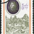 Stock Photo: POLAND - 1970: shows Nicolaus Copernicus (1473-1543) by Bacciarelli and View of Bologna