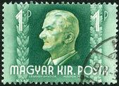 HUNGARY - 1941: shows Admiral Nicholas Horthy (1868-1957) — Stock Photo