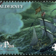 ALDERNEY - 2010: shows Scene from Peter Pan, by David Wyatt, 150th anniversary of the birth of JM Barrie — Stock Photo
