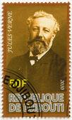 DJIBOUTI - 2010: shows Jules Verne (1828-1905) — Stock Photo