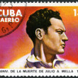 Cuba - 1979: shows portrait of Julio A. Mella (1903-1929) — Stock Photo