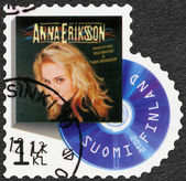 FINLAND - 2012: shows Anna Eriksson, series on Finnish music has reached the 1990's — Stock Photo