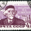 Stock Photo: USSR - 1961: shows Nikolai D. Zelinsky (1861-1953), Chemist, Birth Century