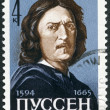 USSR - 1965: shows Nicolas Poussin (1594-1665), French Painter - Photo