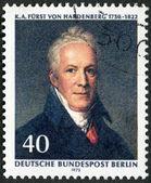 GERMANY - 1972: shows Karl August von Hardenberg (1750-1822), Prussian statesman, painting by J.H.W. Tischbein — Stock Photo